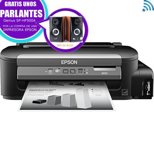 Impresora Mono M105 A4  WiFi sistema recarga tinta pn:C11CC85221