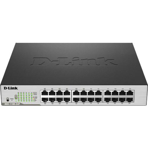Switch 24 puertos PORTS GIGABIT ; POE EASY  DGS-1100-24P