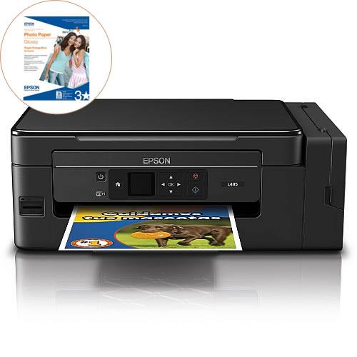 Impresora Multifuncional L495 Color sistema recarga Inalambrica pnC11CF47303