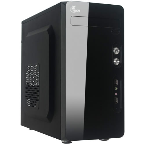 Gabinete Micro-ATX PS2/PS3, fuente de 500W, 4 Slot, USB 2,0*2 + HD AUDIO. 370X170X345MM
