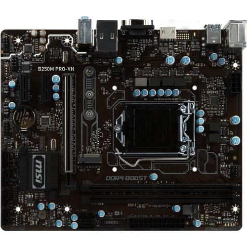 Tarjeta madre M B250M PRO VH  2 x DDR4 Turbo M.2 slot  serial micro atx pn B250M PRO-VH